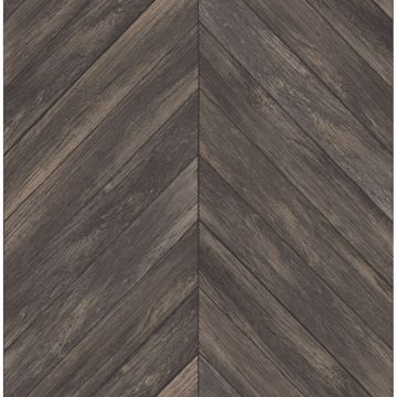 Picture of Parisian Espresso Parquet Wallpaper