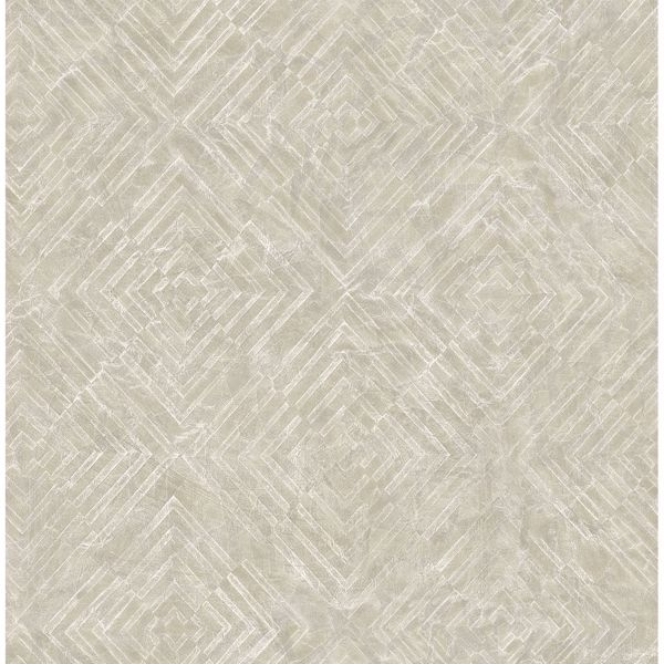 Picture of Labyrinth Platinum Geometric Wallpaper