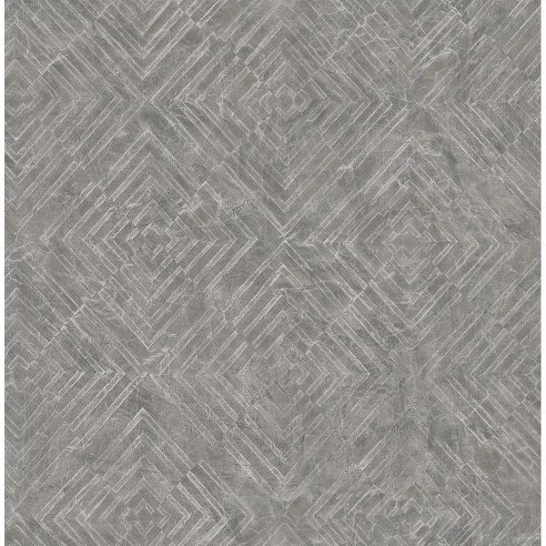 Picture of Labyrinth Pewter Geometric Wallpaper