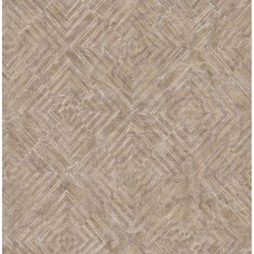Picture of Labyrinth Bronze Geometric Wallpaper