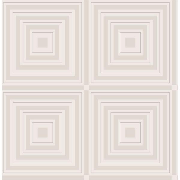 Picture of Luminous Silver Geometric Wallpaper