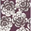 Picture of Fanciful Plum Floral Wallpaper