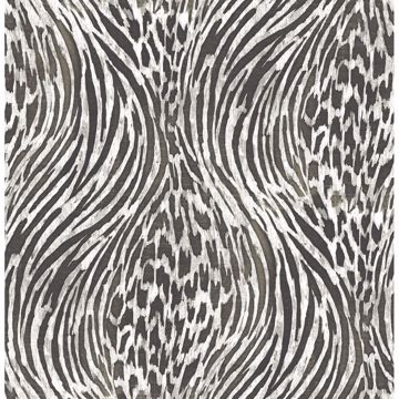 Picture of Splendid Platinum Animal Print Wallpaper