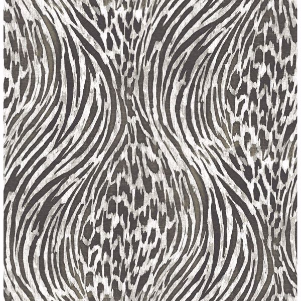 Splendid Platinum Animal Print Wallpaper