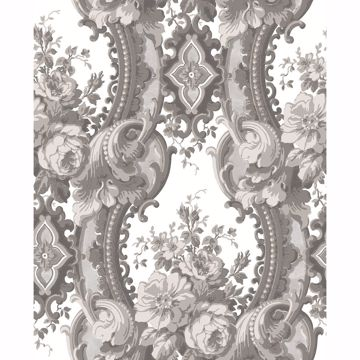 Picture of Dreamer Grey Damask Wallpaper