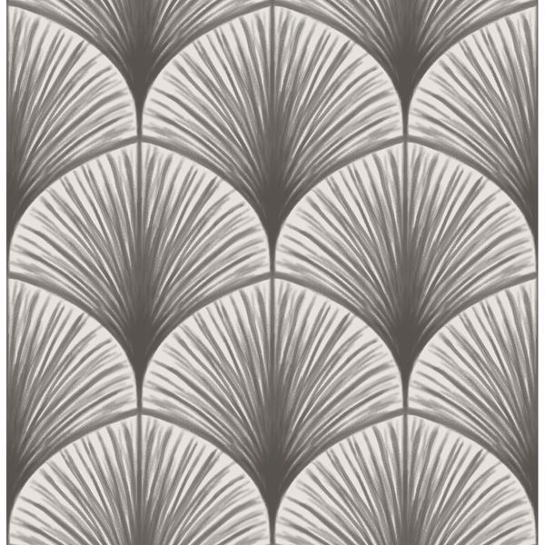 Picture of Dusk Grey Frond Wallpaper