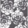 Picture of Fanciful Black Floral Wallpaper