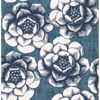 Picture of Fanciful Blue Floral Wallpaper
