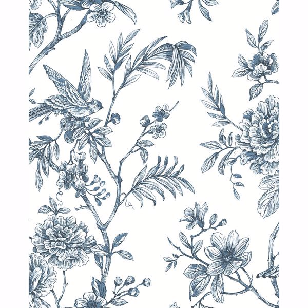 Picture of Jessamine Blue Floral Trail Wallpaper