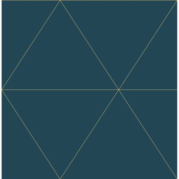 Picture of Twilight Teal Geometric Wallpaper