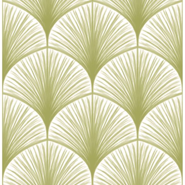 Picture of Dusk Green Frond Wallpaper