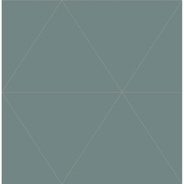 Picture of Twilight Green Geometric Wallpaper