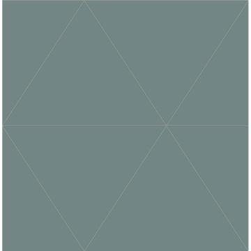 Picture of Twilight Green Geometric Wallpaper