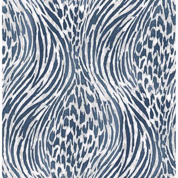 Picture of Splendid Blue Animal Print Wallpaper