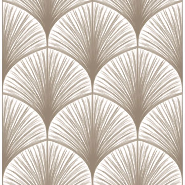 Picture of Dusk Taupe Frond Wallpaper