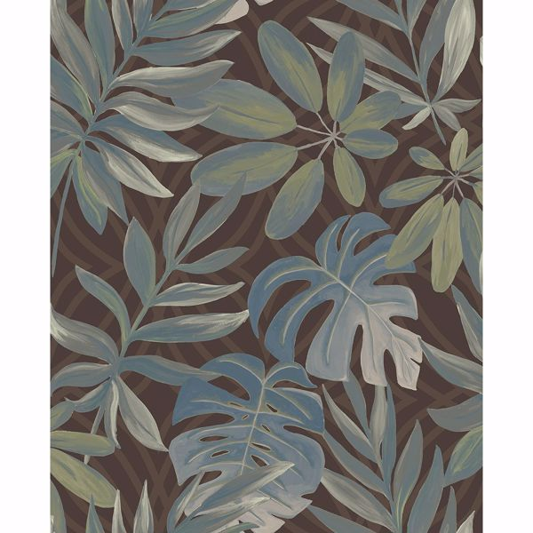 Picture of Nocturnum Brown Leaf Wallpaper