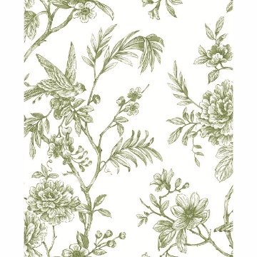 Picture of Jessamine Green Floral Trail Wallpaper