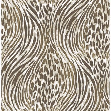 Picture of Splendid Brown Animal Print Wallpaper