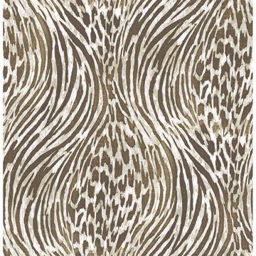 Picture of Splendid Brown Animal Print Wallpaper