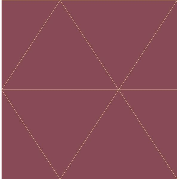Picture of Twilight Red Geometric Wallpaper