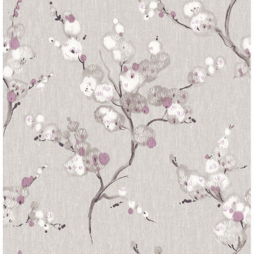 Picture of Bliss Purple Blossom Wallpaper