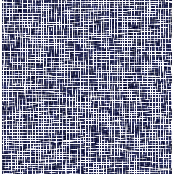 Picture of Shanti Blue Grid Wallpaper