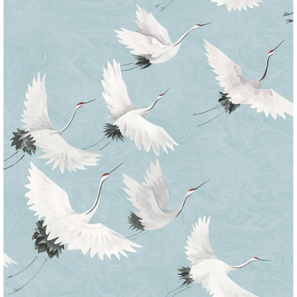 Picture of Windsong Blue Crane Wallpaper