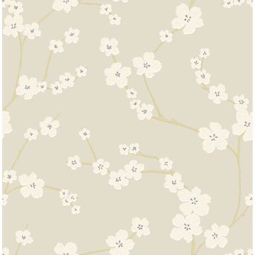 Picture of Sakura Sand Floral Wallpaper