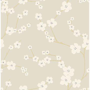 Picture of Sakura Sand Floral Wallpaper