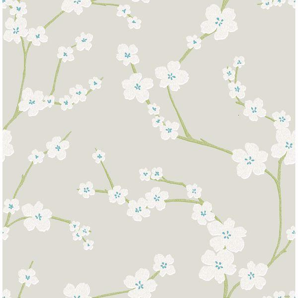 Picture of Sakura Light Grey Floral Wallpaper