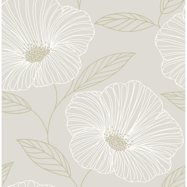 Picture of Mythic Dove Floral Wallpaper
