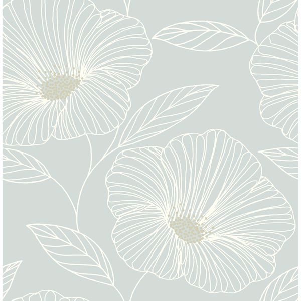 Picture of Mythic Seafoam Floral Wallpaper