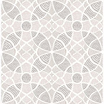 Picture of Zazen Rose Geometric Wallpaper