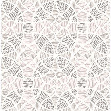Picture of Zazen Rose Geometric Wallpaper