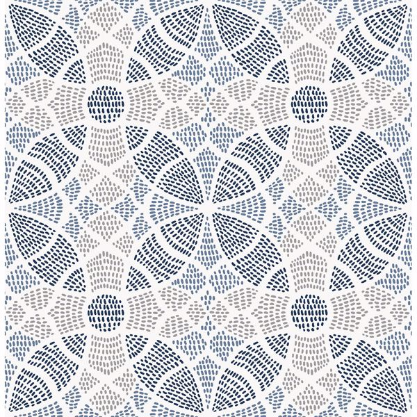 Picture of Zazen Blue Geometric Wallpaper