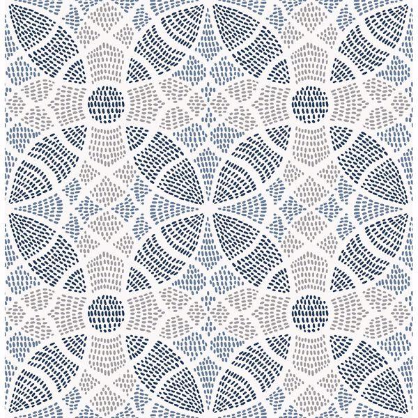 Picture of Zazen Blue Geometric Wallpaper