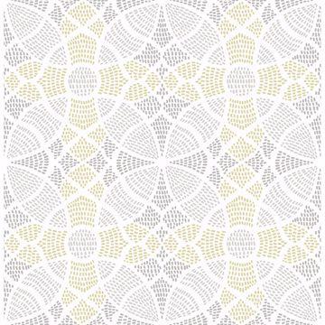 Picture of Zazen Yellow Geometric Wallpaper