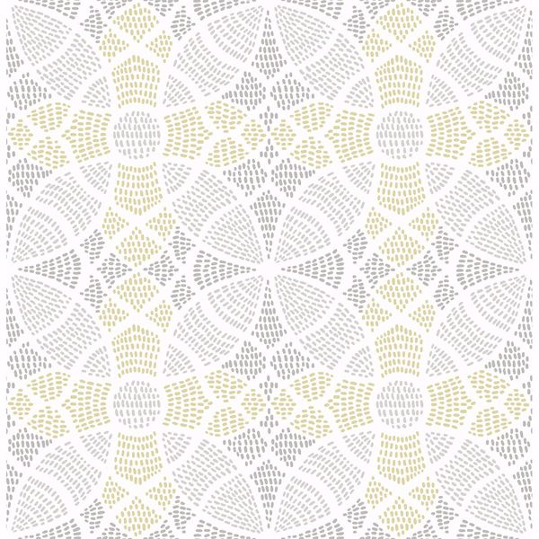 Picture of Zazen Yellow Geometric Wallpaper