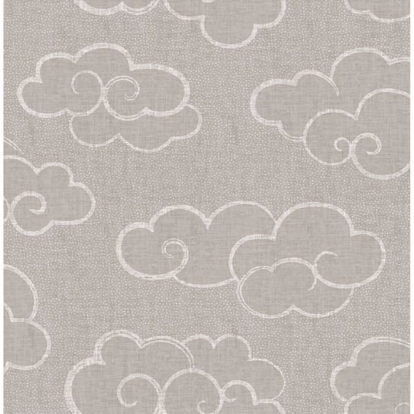 Picture of Skylark Taupe Cloud Wallpaper