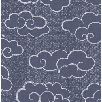 Picture of Skylark Navy Cloud Wallpaper