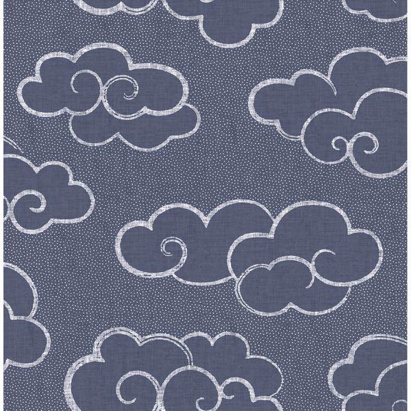 Picture of Skylark Navy Cloud Wallpaper