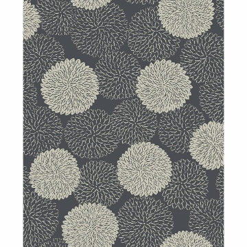 Picture of Blithe Charcoal Floral Wallpaper