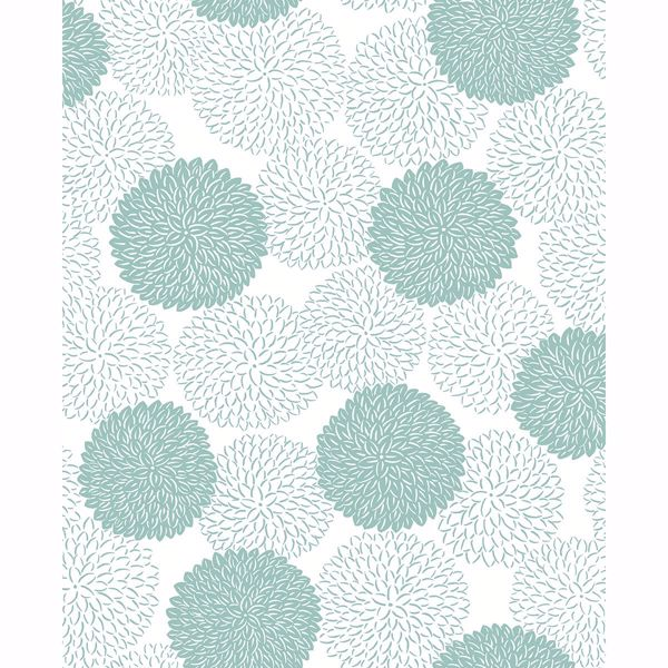 Picture of Blithe Turquoise Floral Wallpaper