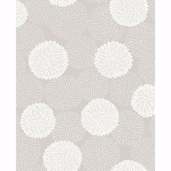 Picture of Blithe Taupe Floral Wallpaper