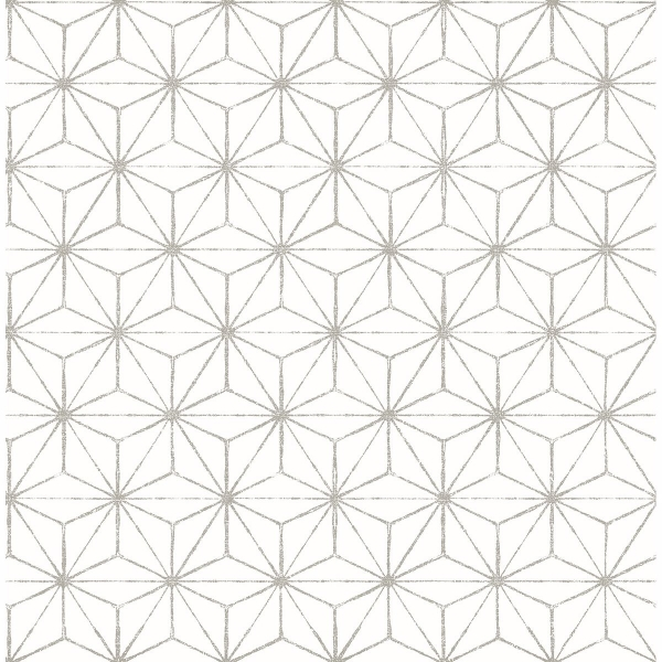 Picture of Orion Grey Geometric Wallpaper