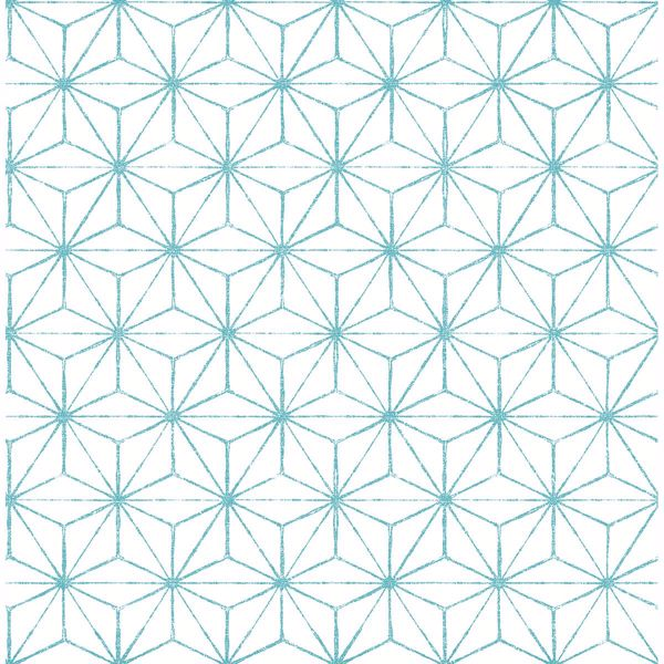 Picture of Orion Turquoise Geometric Wallpaper