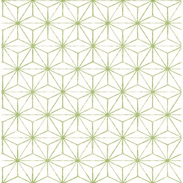 Picture of Orion Green Geometric Wallpaper