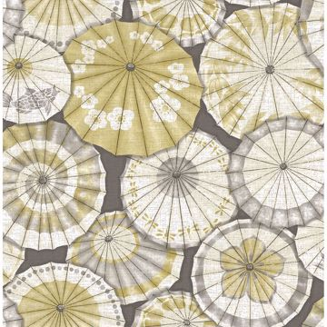 Picture of Mikado Ochre Parasol Wallpaper