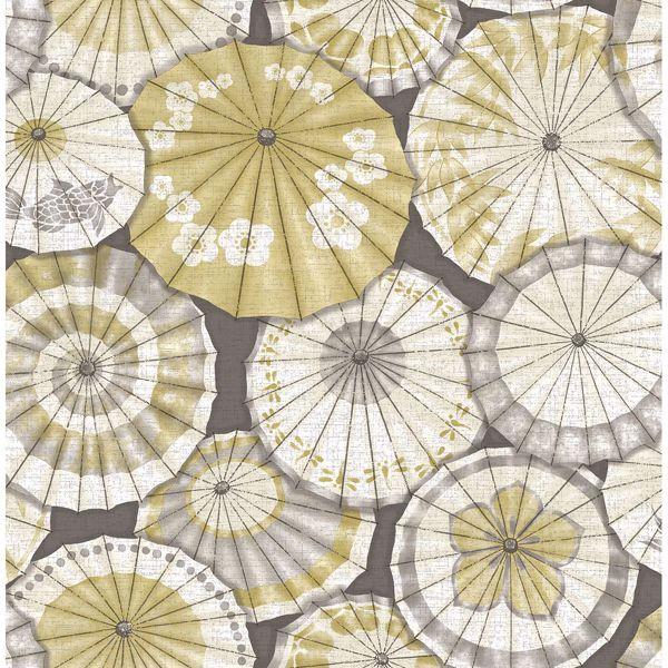 Picture of Mikado Ochre Parasol Wallpaper