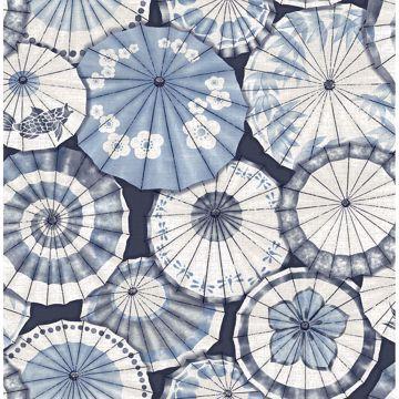 Picture of Mikado Blue Parasol Wallpaper